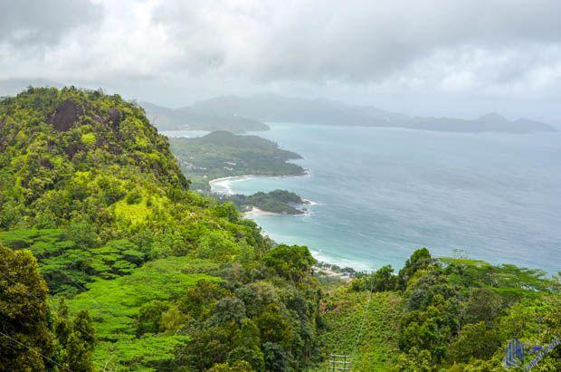 Panoramic view Mahe em Seychelles