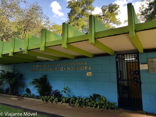 faxada da biblioteca escolar comunitária professora Eliza Nogueira da 308 sul Quadra Modelo de Brasília