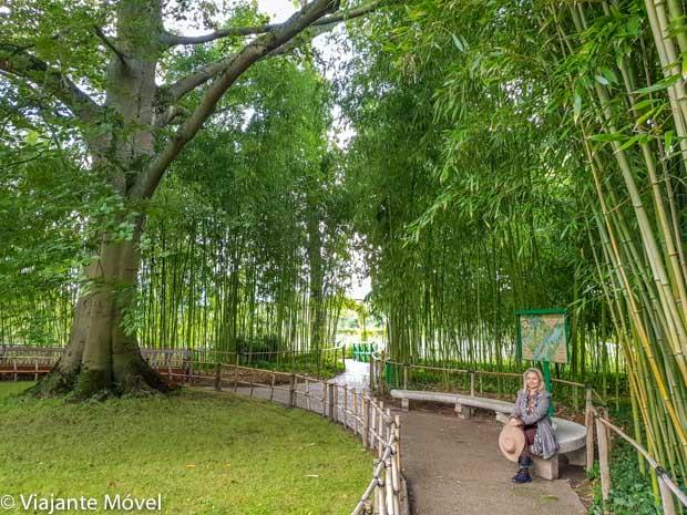 Jardim de água na casa de Monet em Giverny na França