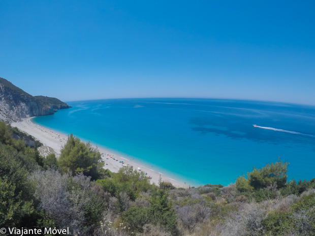 Milos beach view em Lefkada