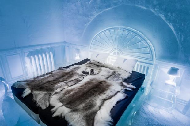 Já pensou em se hospedar num hotel de gelo na Suécia
