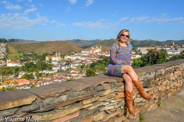 Vista panorâmica da cidade de Ouro Preto em Minas Gerais