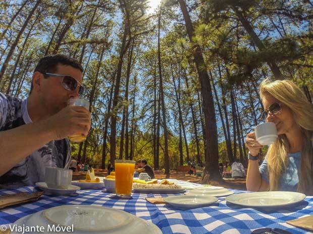 Café da manhã no Jardim Botânico em Brasília