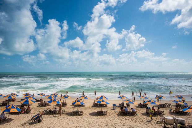 Praia do Futuro em Fortaleza no Litoral Leste do Ceará