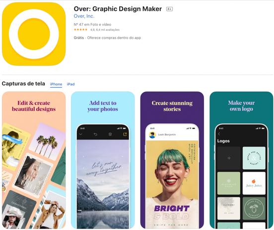 Over: aplicativos indispensáveis para criar Stories do Instagram