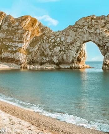 Durdle Door, uma praia na Costa Jurássica da Inglaterra