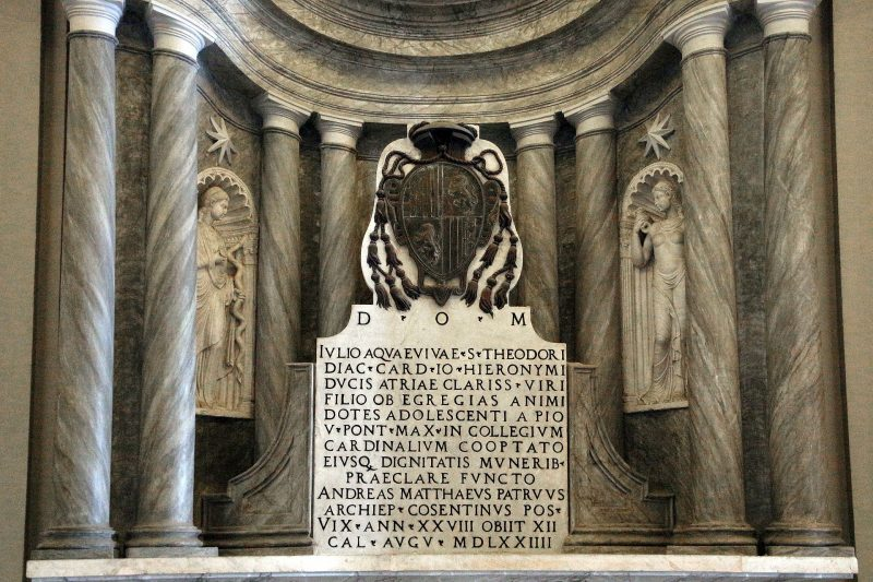 Monumento del Cardenal Giulio Acquaviva 1574 foto de Sailko Wikimedia Commons