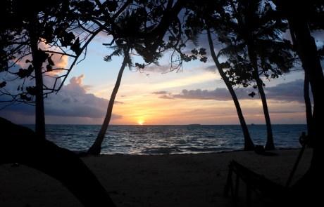 Las puestas de sol en Maldivas son de película.