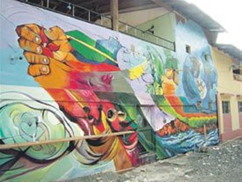 Mural en Representacion de Las Hermanas Mirabal