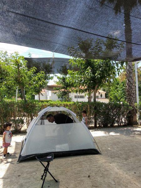 Camping con niños por primera vez