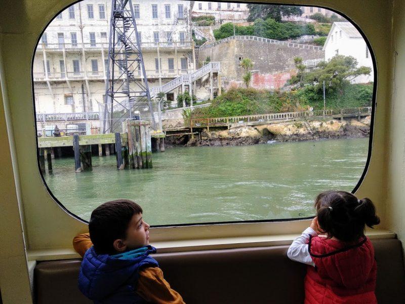 Alcatraz con niños, ferry