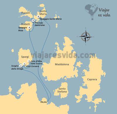 Ruta excursión archipiélago de la Maddalena