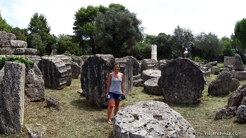 viajaresvida - Templo de Zeus en Olympia