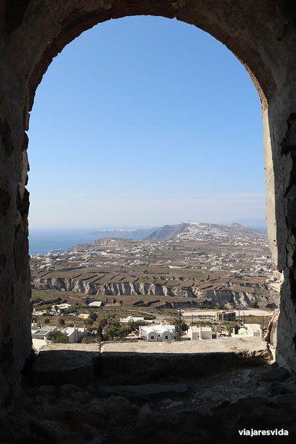 Vistas desde Kasteli de Pyrgos