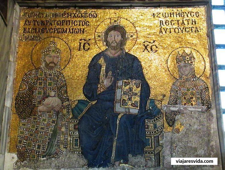 Mosaico de Pantocrátor en Santa Sofía