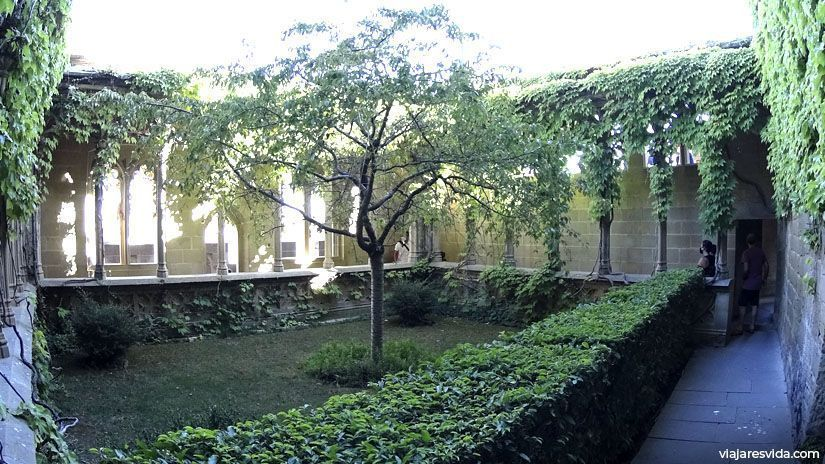 El jardín de la reina del Palacio de Olite