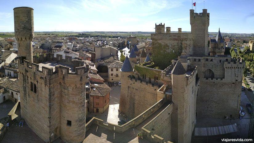 Palacio Real de Olite desde la Torre de los cuatro vientos