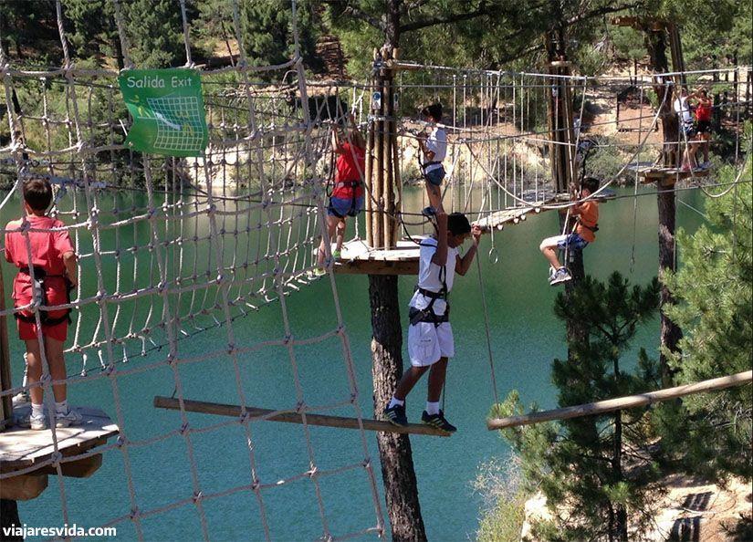 Parques de atracciones de Madrid para ir con niños. Tirolinas Go!