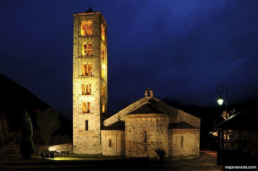 Sant Climent de Taüll de noche