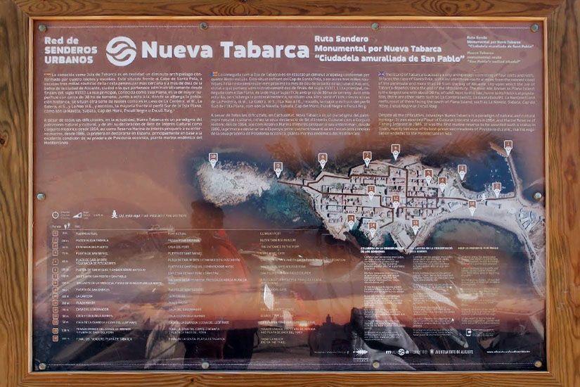 Cartel informativo de la ruta monumental