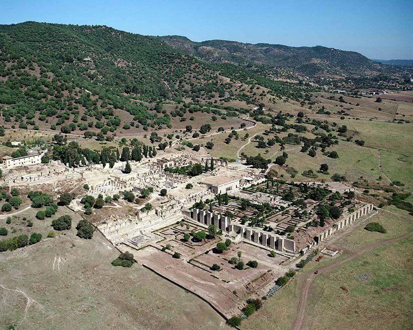 Visión general del yacimiento de Medina Azahara