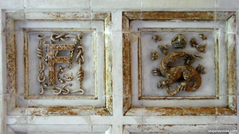 Iniciales y salamandras, emblema del Rey