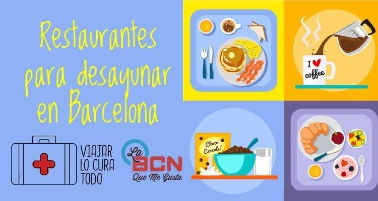 desayunar en Barcelona