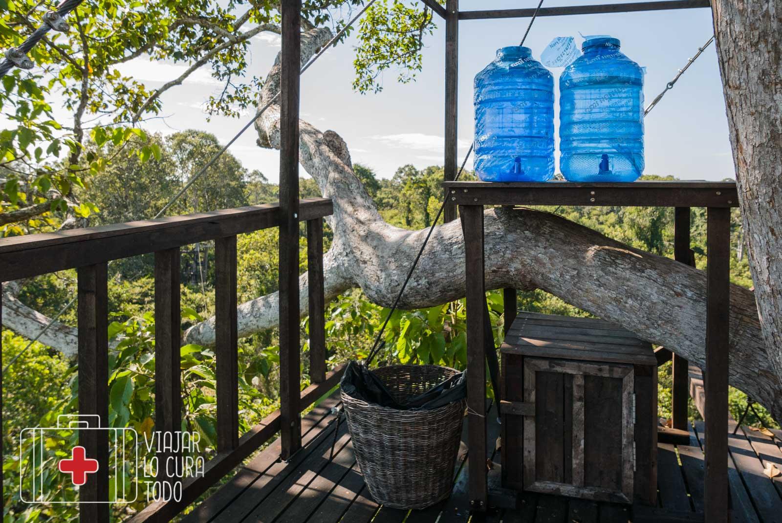 Pausa para beber agua