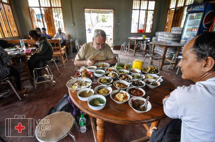 comida local Myanmar