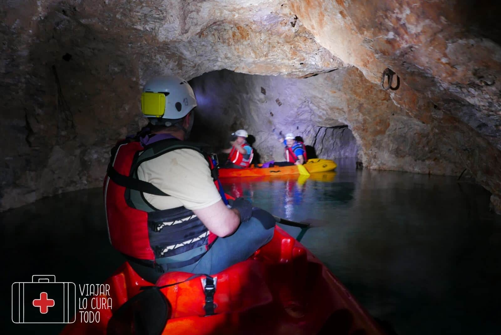 under ground kayak Slovenia