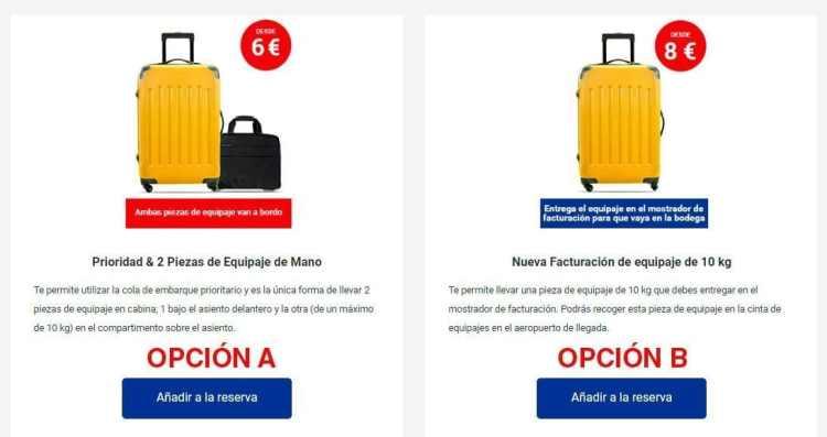 Ryanair equipaje de mano