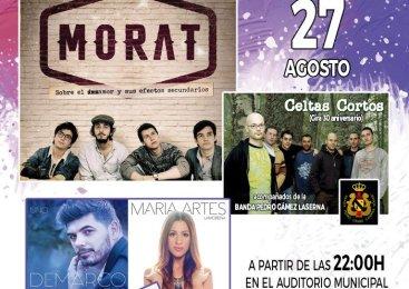 Festimágina trae a Morat, DeMarco, María Artes y Celtas Cortos el 27 de agosto