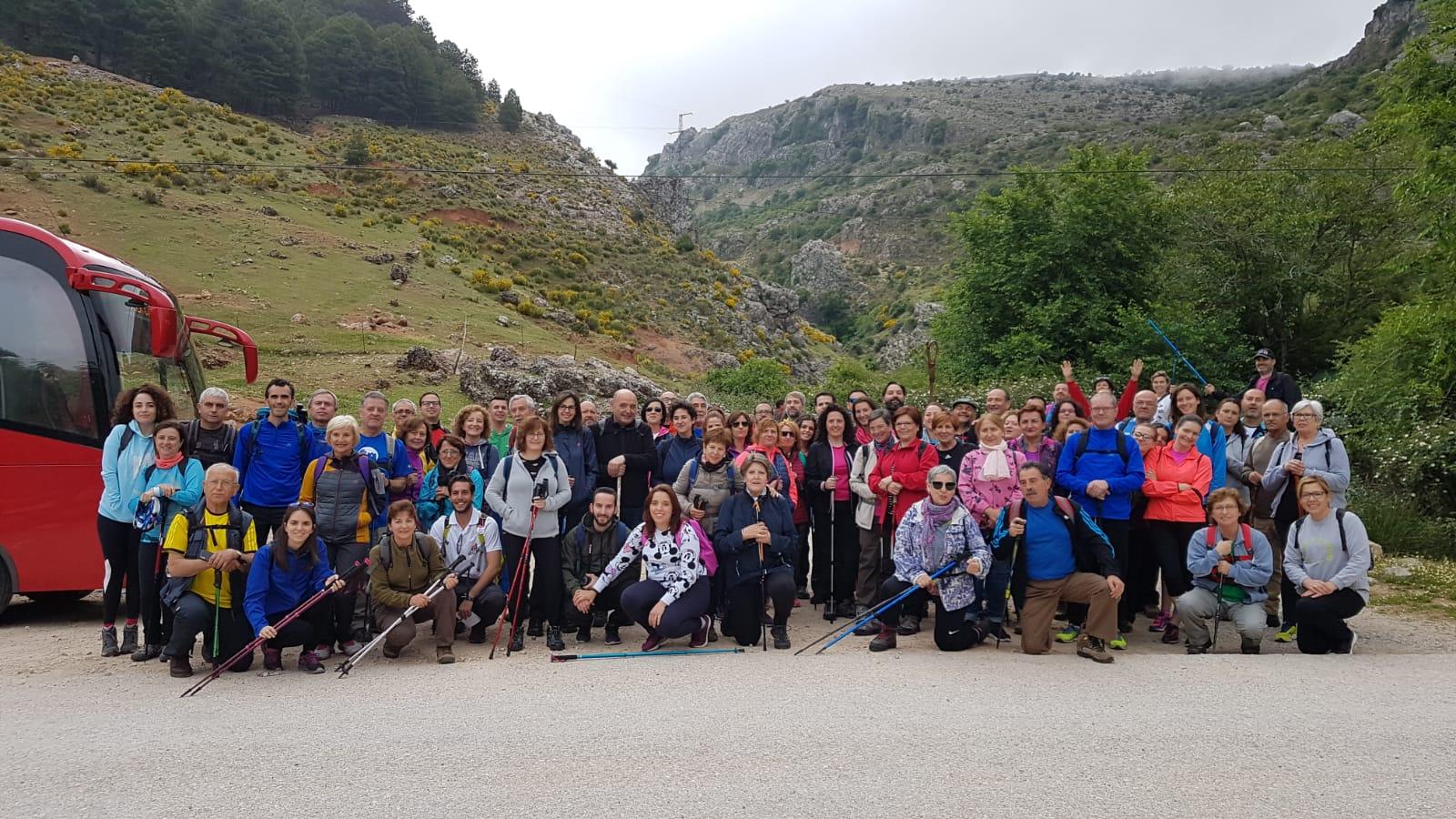 Los Vadilleros conocen la sorpresa de la Sierra Sur…Las Chorreras de Valdepeñas de Jaén