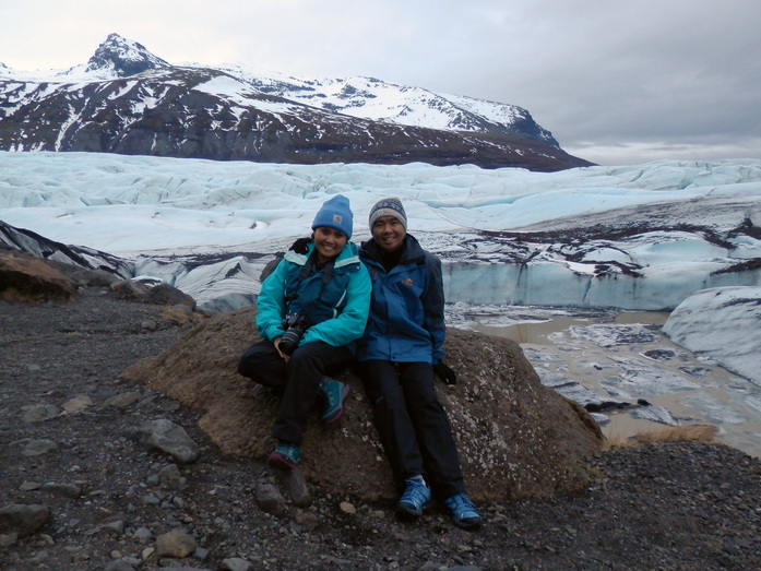 Glen and Tessa at Vatnajokull