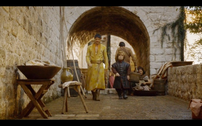 Prince Oberyn and Tyrion leave Littlefinger's brothel in King's Landing