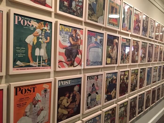 Just a few of his many cover art for the Saturday Evening Post