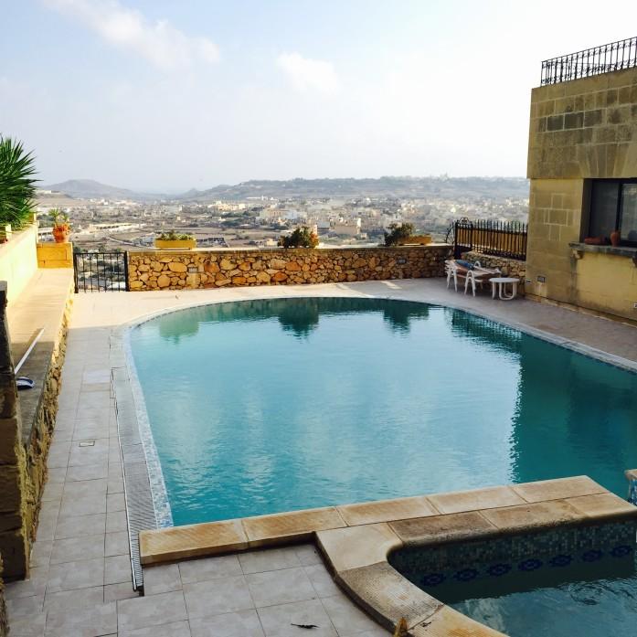 Pool view of Sannat