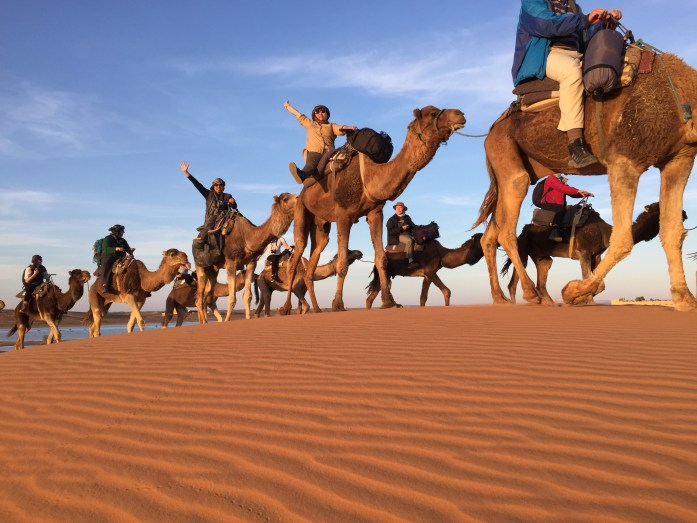 Doing what we love best, in the Western Sahara Desert of Morocco