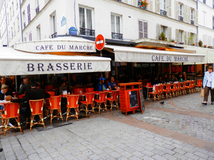 My favorite cafe on Rue Cler