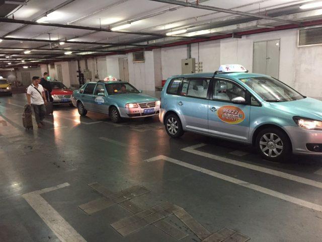 Taxis fuera del aeropuerto en China