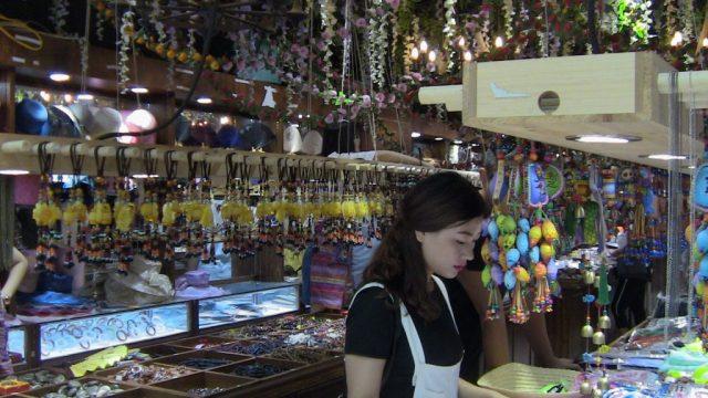 Tienda de souvenirs fraudulenta en China.