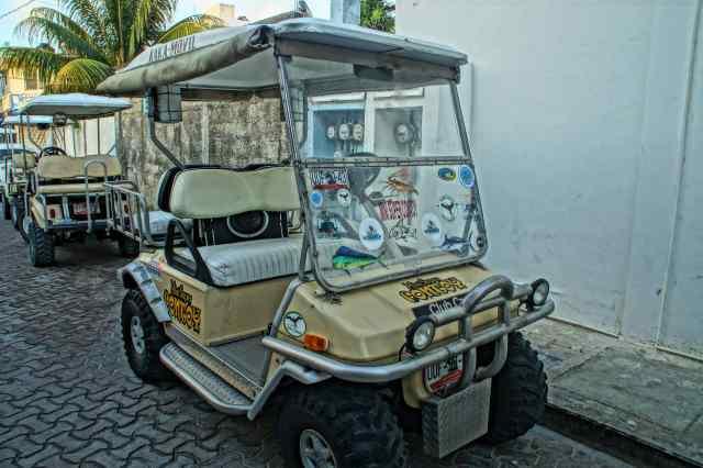 Carrito de golf, Isla Mujeres