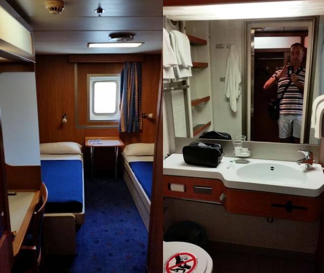 Camarote doble y lavabo en buque ADRIATICO