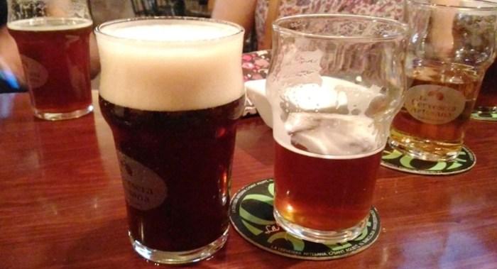 Algunas de las cervezas artesanas degustadas en el evento
