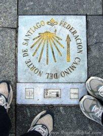 Loseta del Camino de Santiago a su paso por Santander