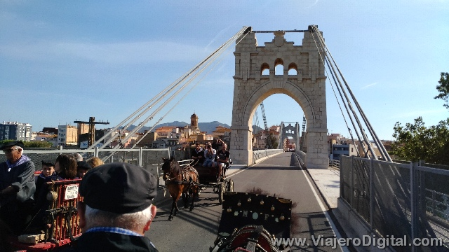 Paseo a caballo hasta el Puente Colgante de Amposta