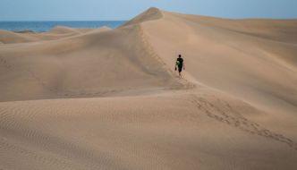 Las dunas de Maspalomas, el Sahara Canario.