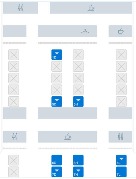 Mapa de Asientos 787 American Airlines