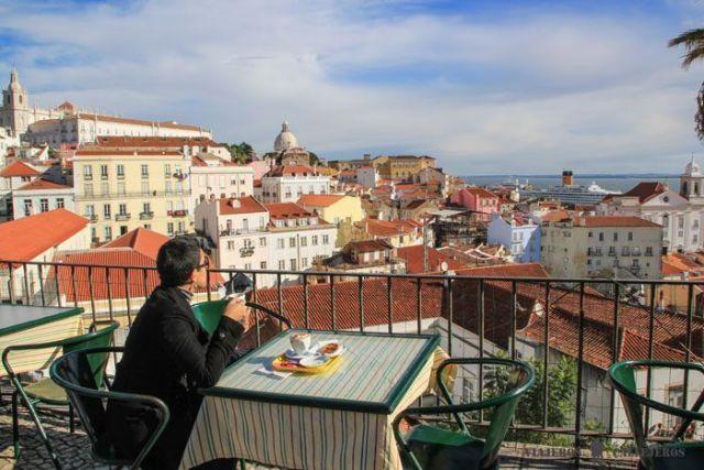 Lisboa, mirador Portas do Sol