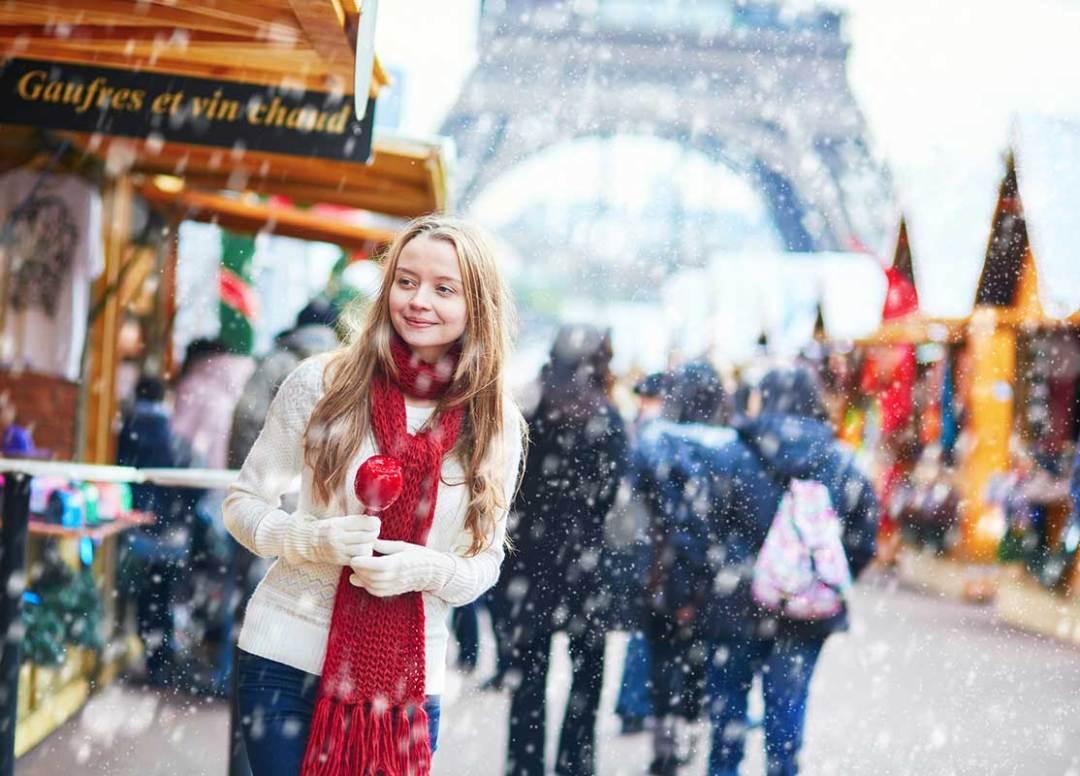 Paris sob a neve